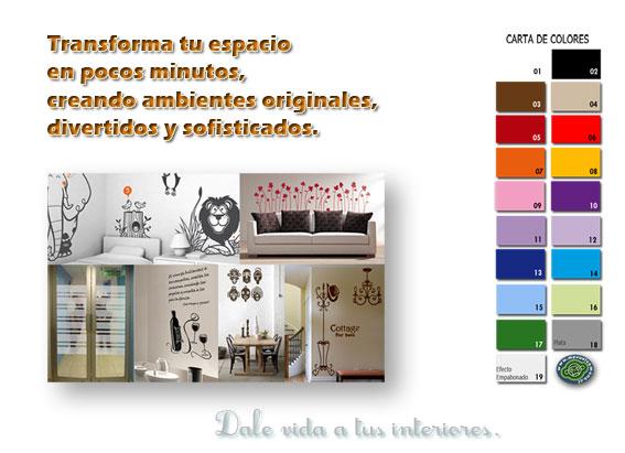 Vinilos decorativos adhesivos for Vinilos murales adhesivos
